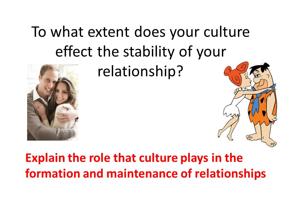 To what extent does your culture effect the stability of your relationship