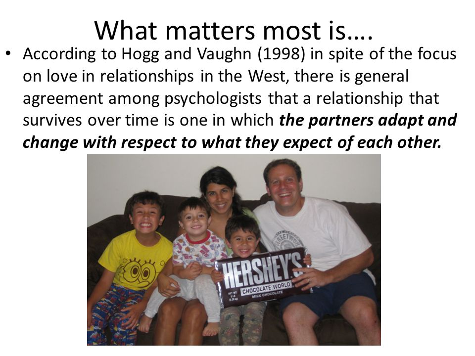 What matters most is….