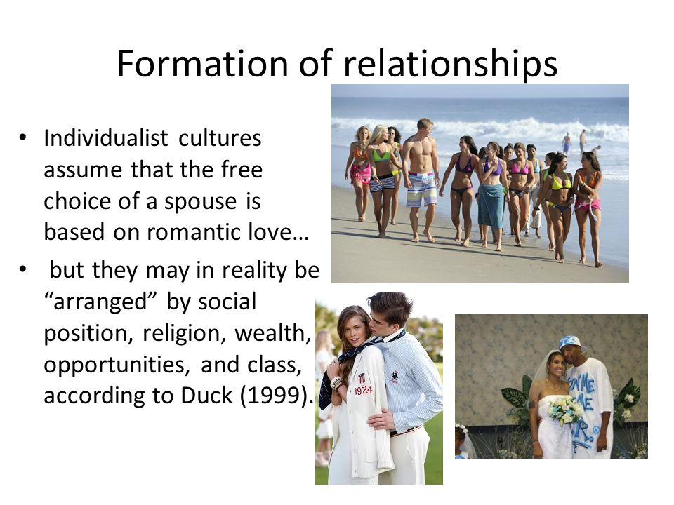 Formation of relationships
