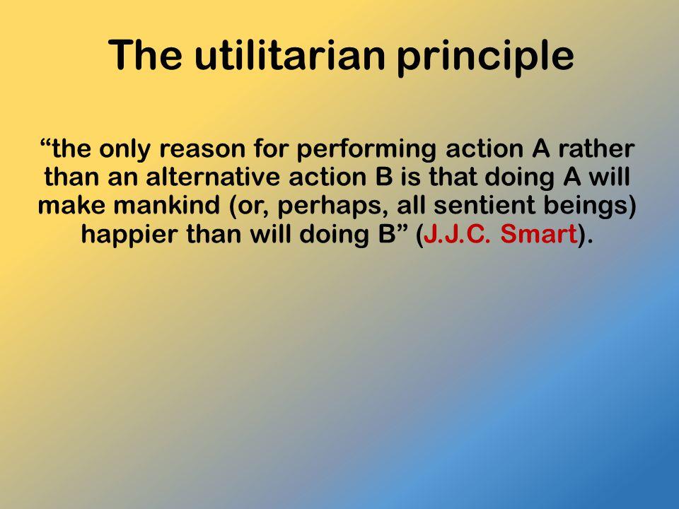 The utilitarian principle