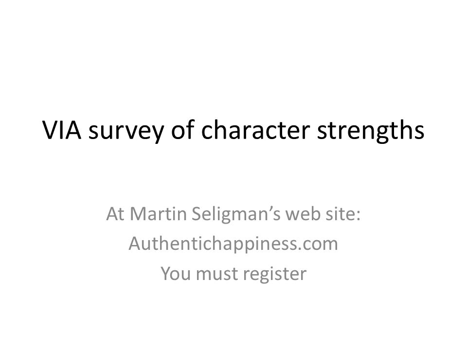 VIA survey of character strengths