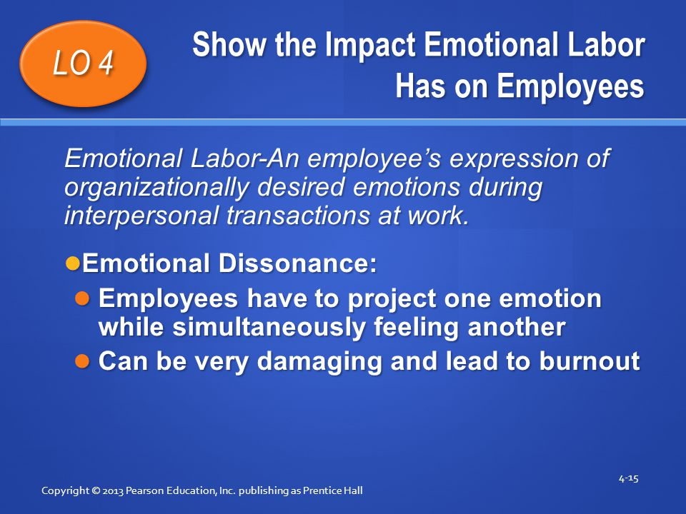Show the Impact Emotional Labor Has on Employees