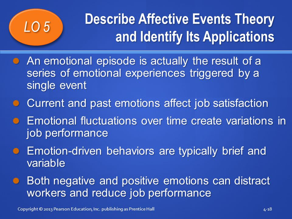 Describe Affective Events Theory and Identify Its Applications