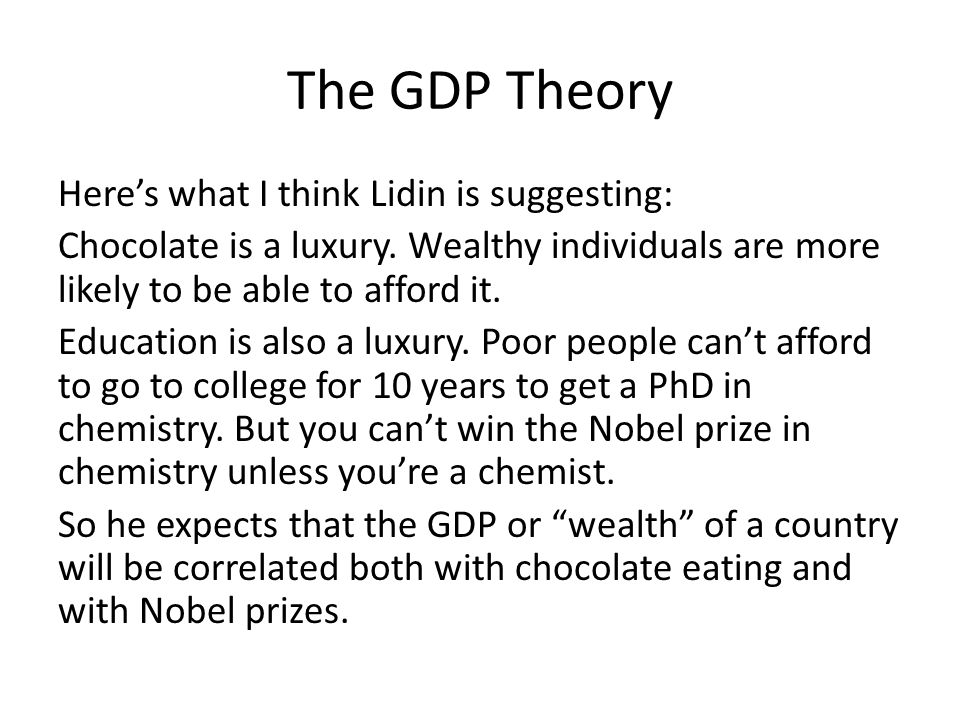 The GDP Theory