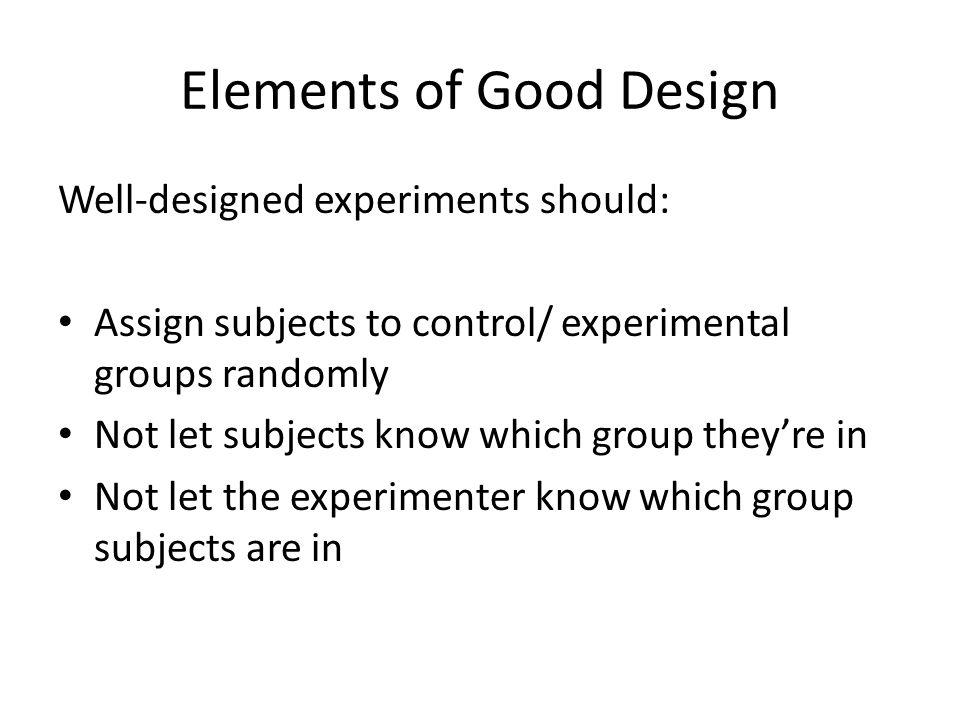Elements of Good Design