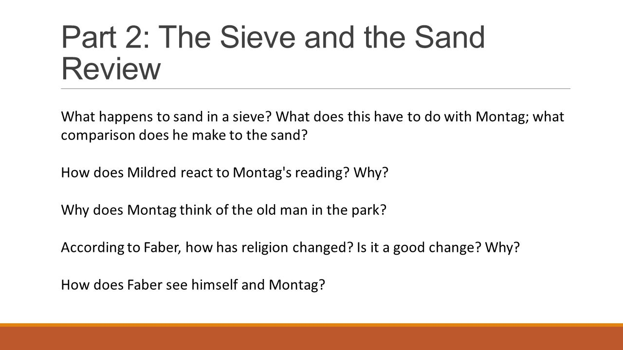 Part 2: The Sieve and the Sand Review