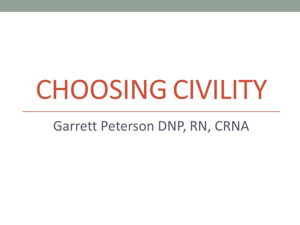 Garrett Peterson DNP, RN, CRNA