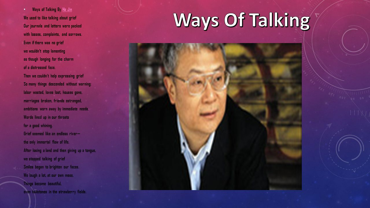 Ways Of Talking Ways of Talking By Ha Jin