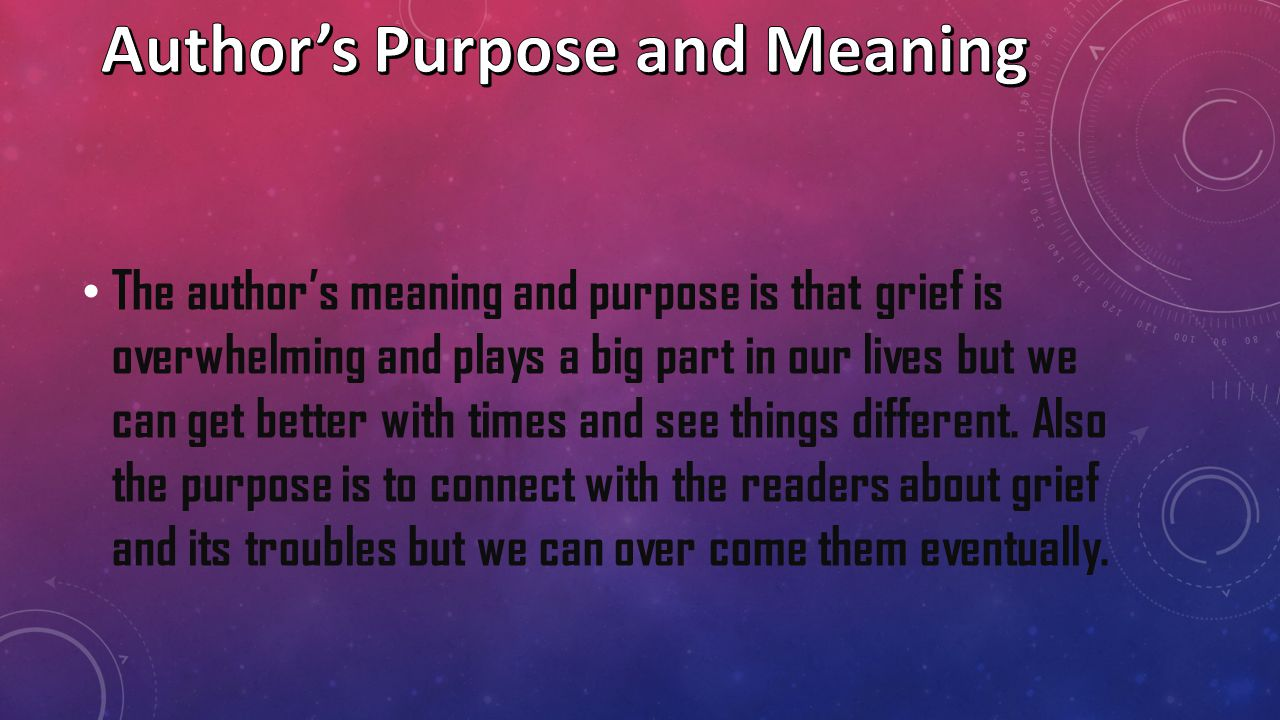 Author's Purpose and Meaning