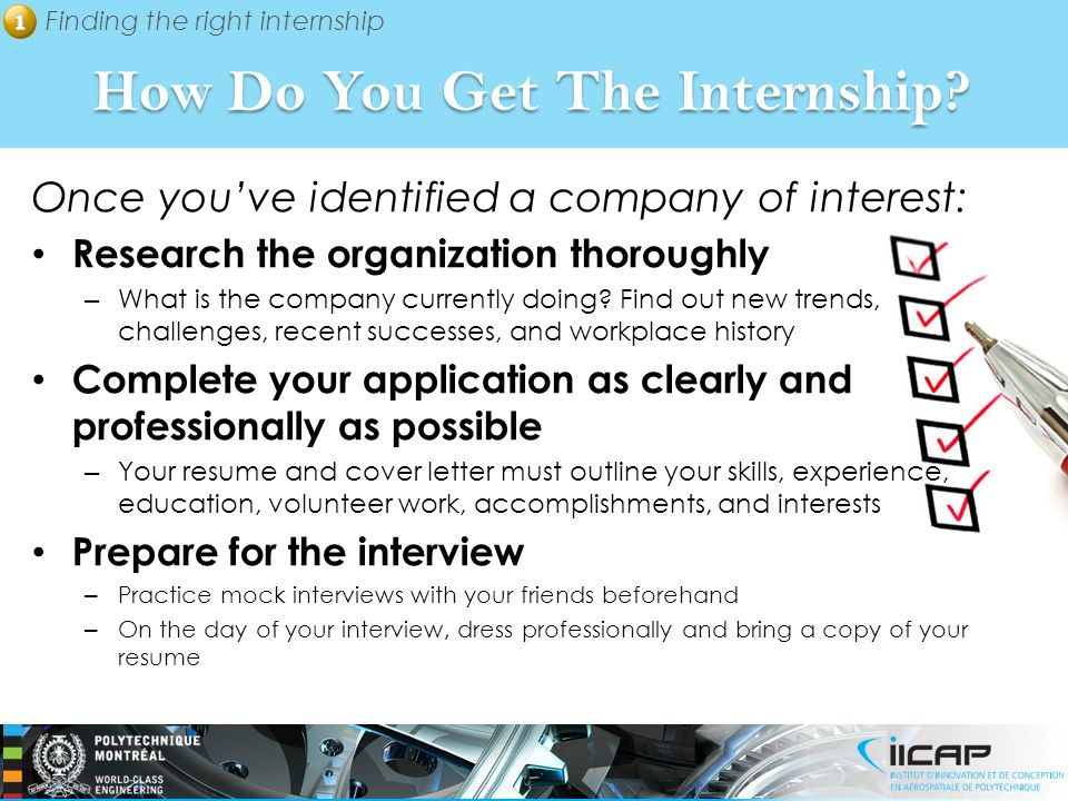 How Do You Get The Internship