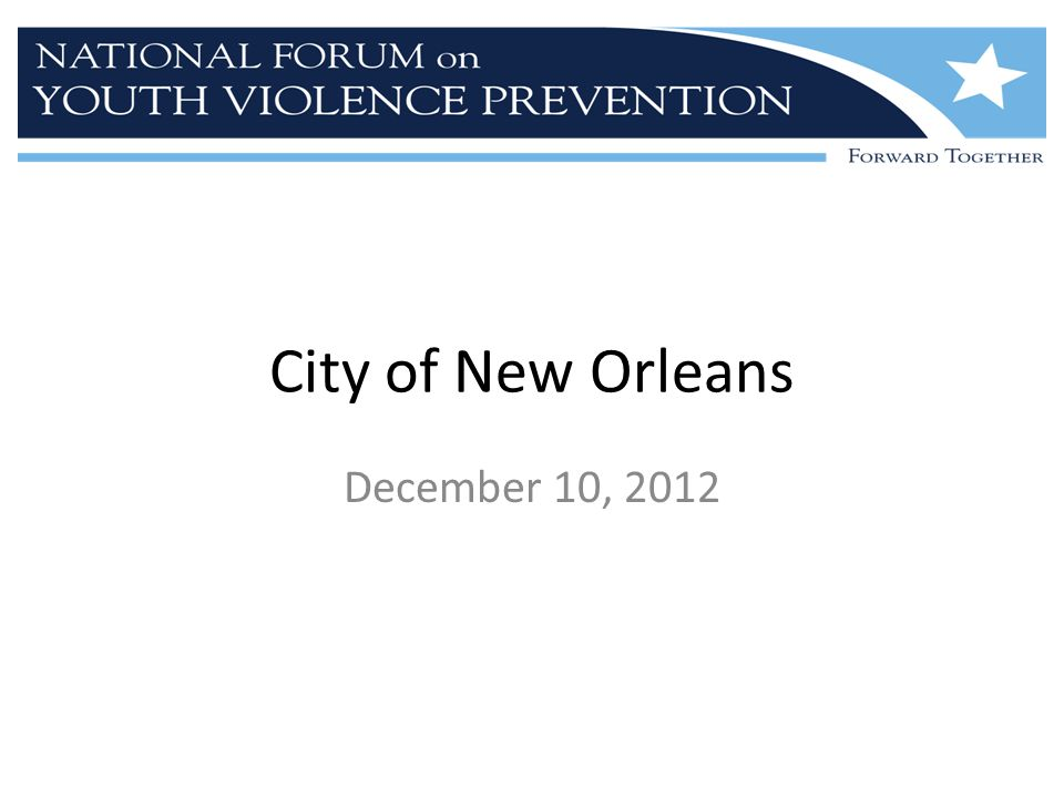 City of New Orleans December 10, 2012