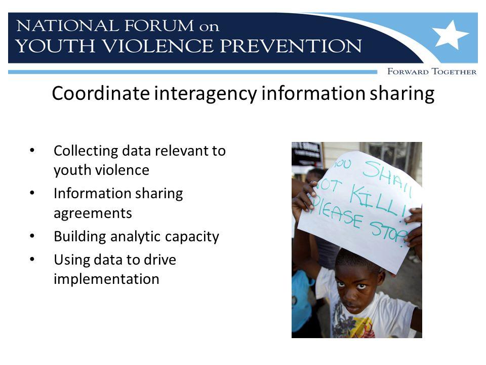 Coordinate interagency information sharing