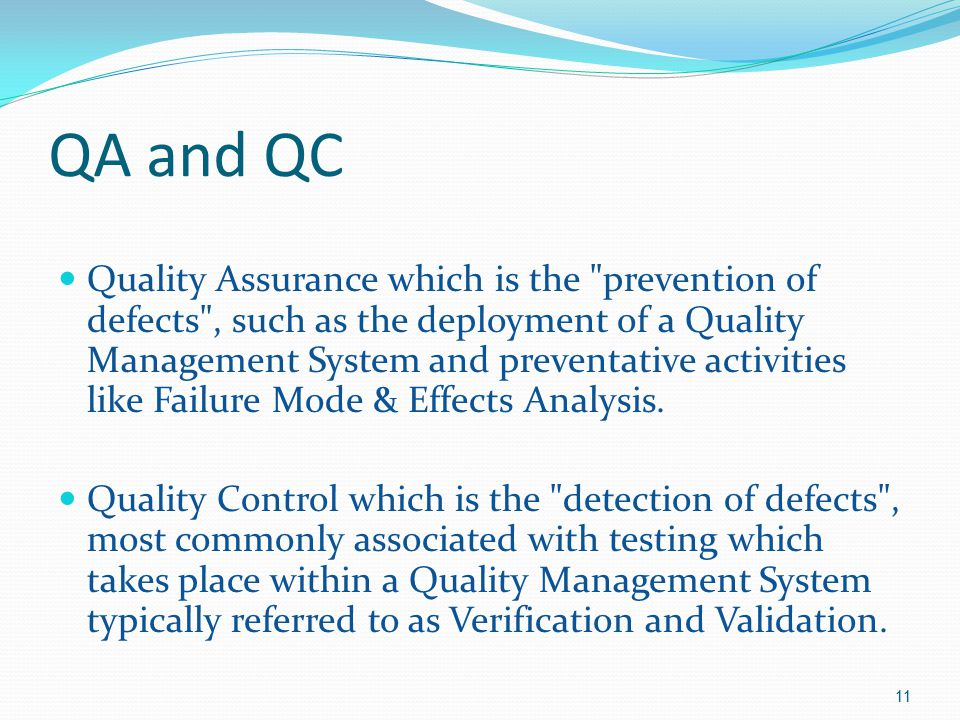 QA and QC
