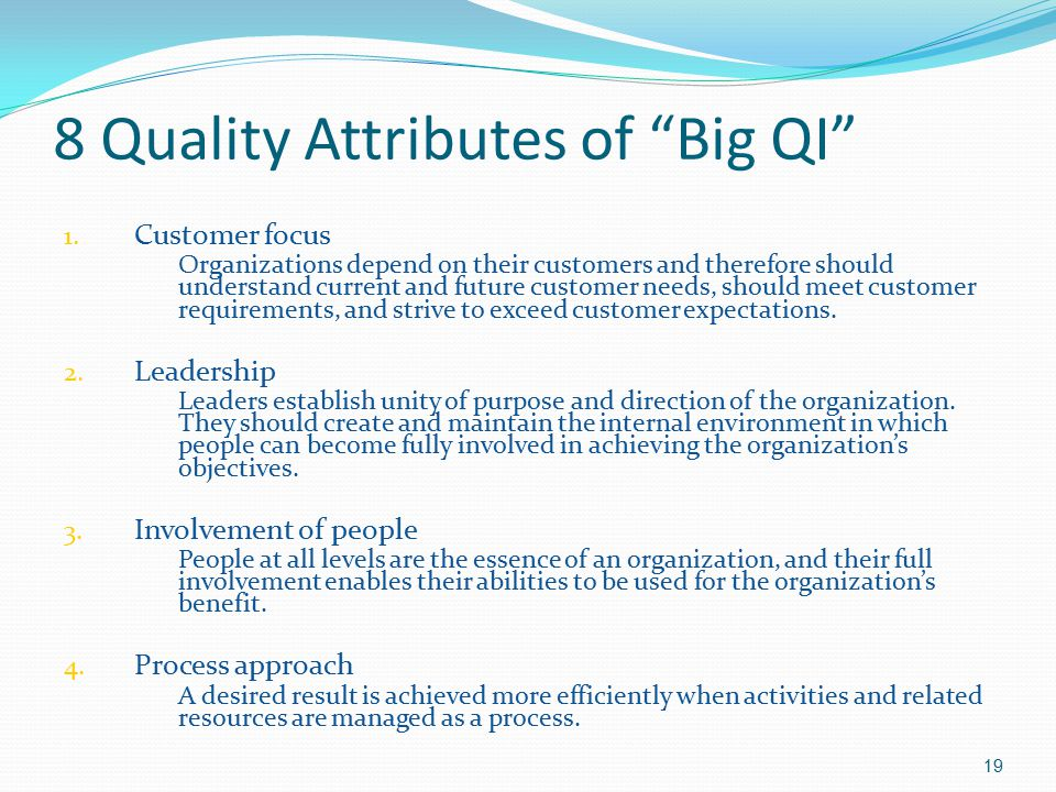 8 Quality Attributes of Big QI