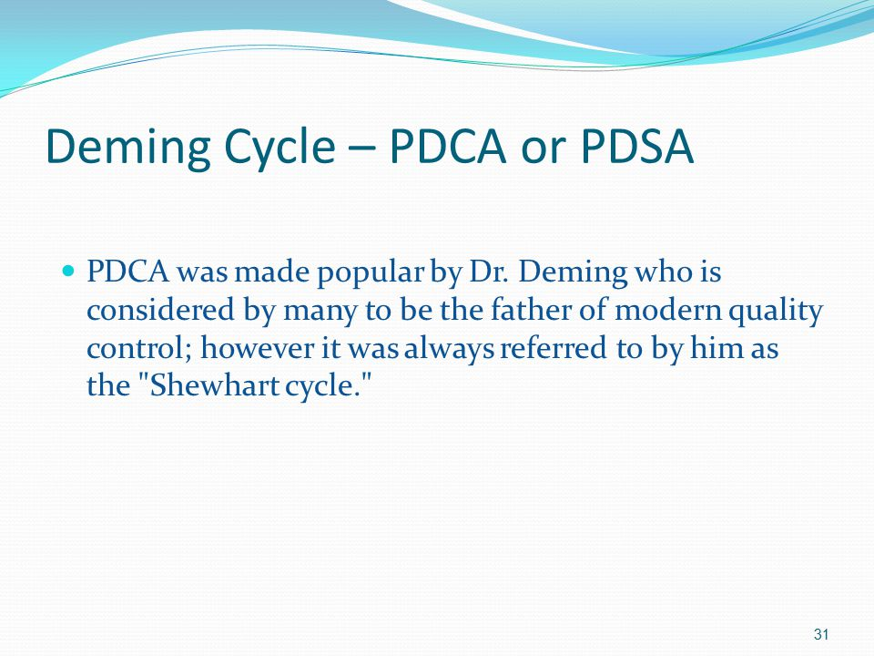 Deming Cycle – PDCA or PDSA