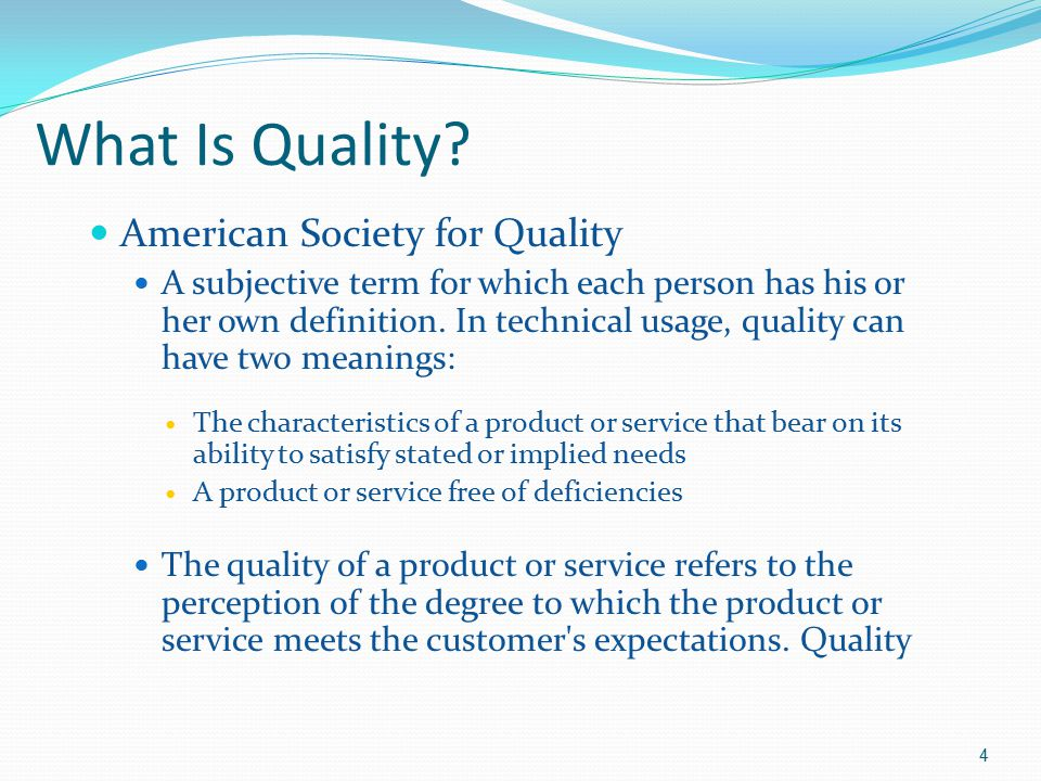 What Is Quality American Society for Quality