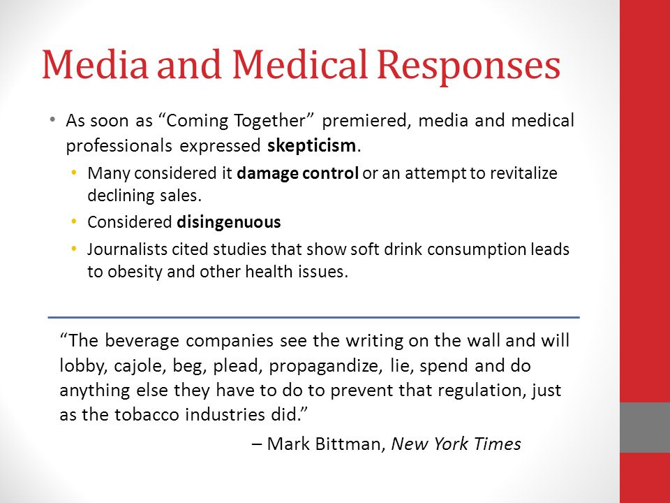 Media and Medical Responses