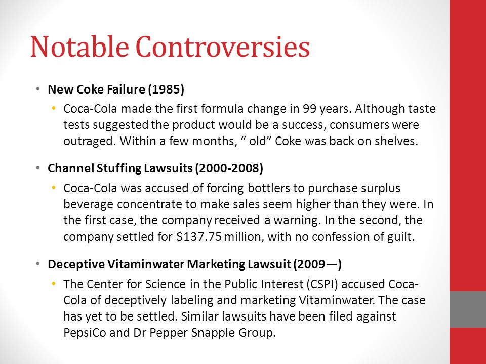 Notable Controversies
