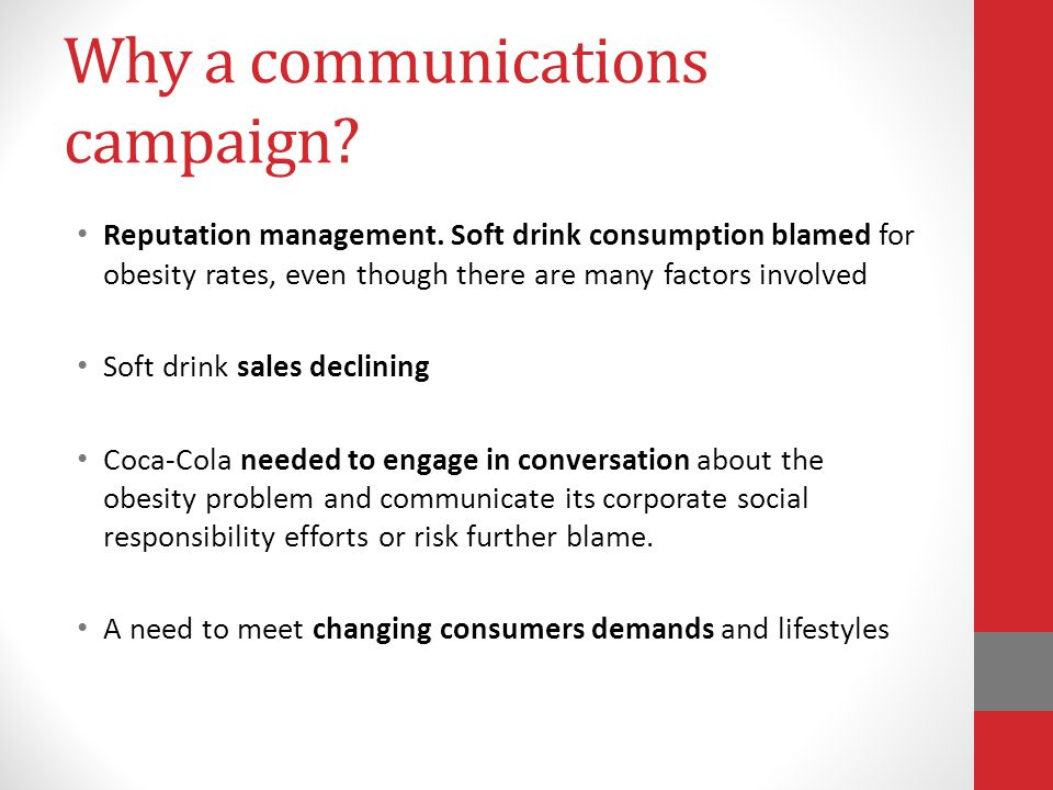 Why a communications campaign