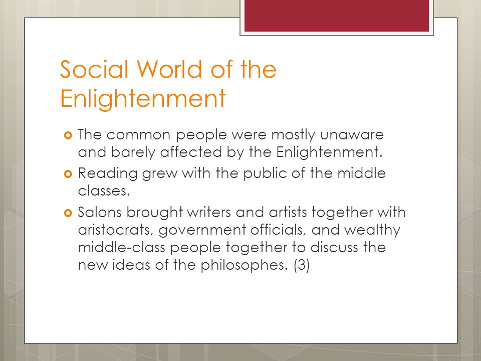 Social World of the Enlightenment