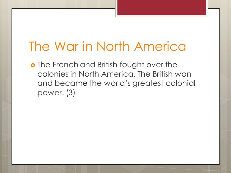 The War in North America