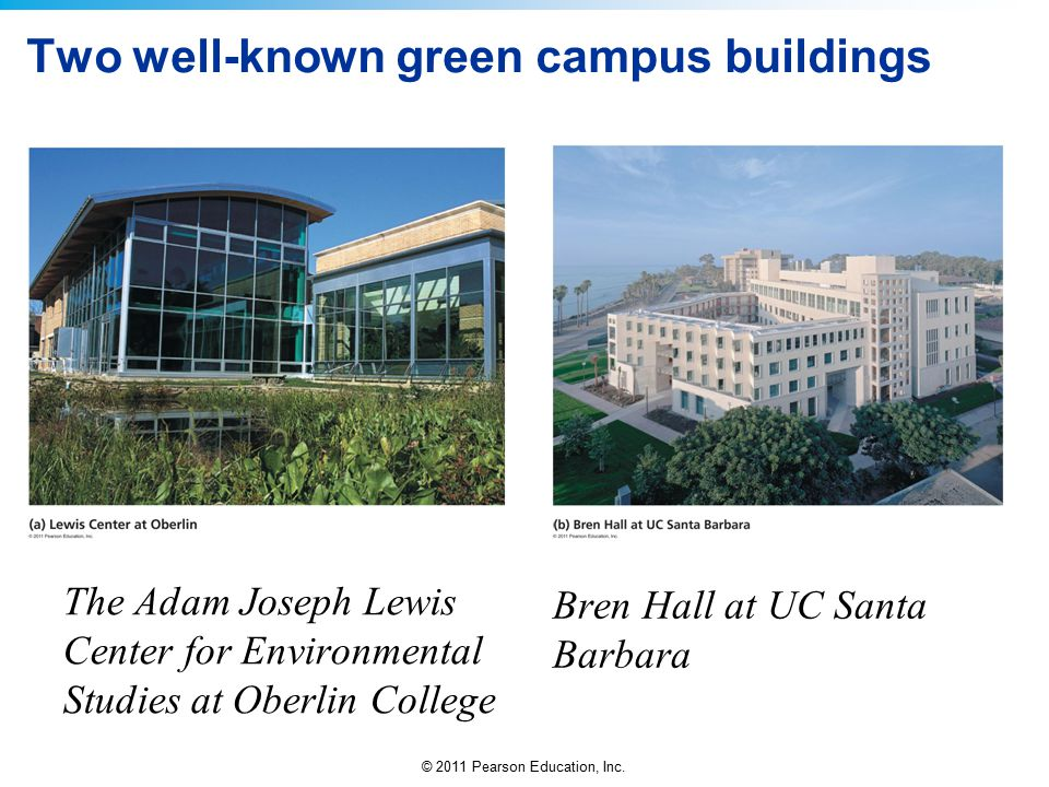 Two well-known green campus buildings