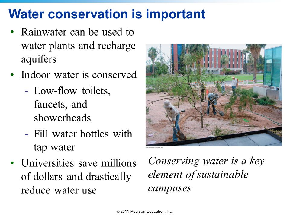 Water conservation is important