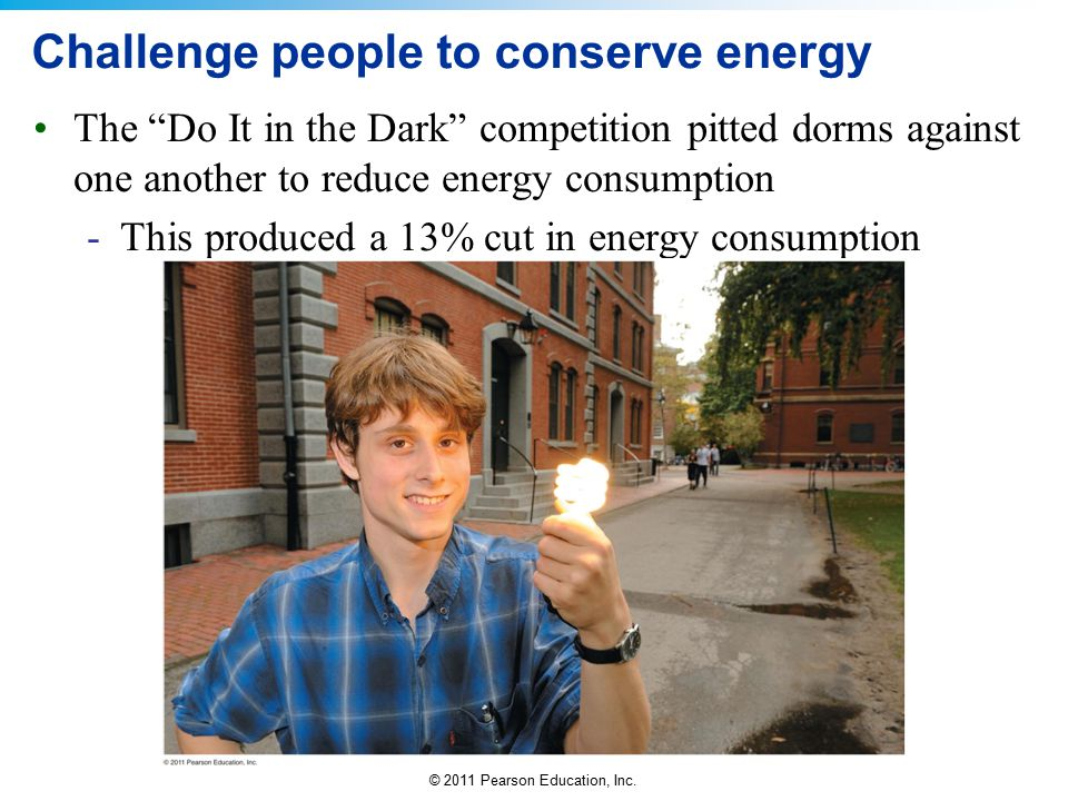 Challenge people to conserve energy