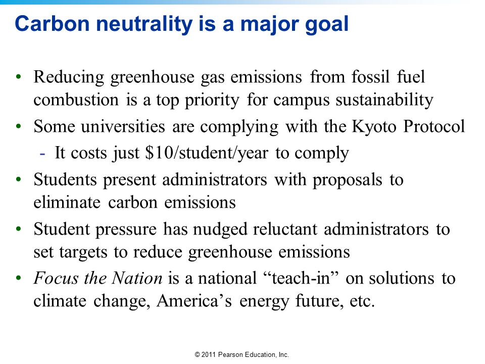 Carbon neutrality is a major goal