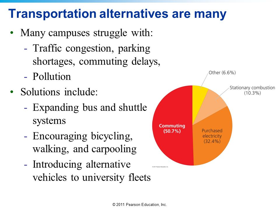 Transportation alternatives are many