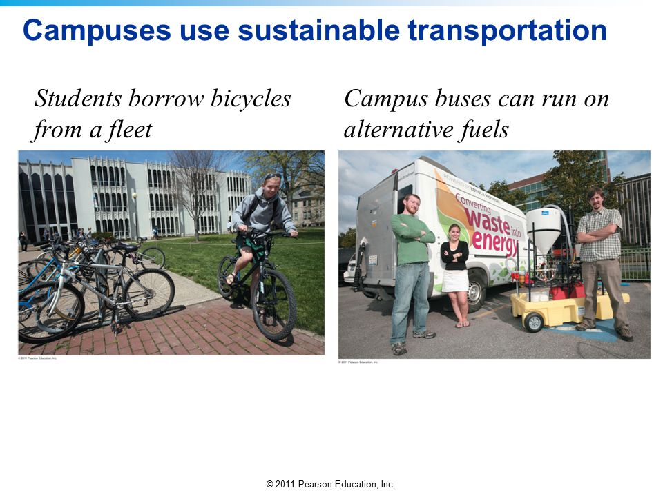 Campuses use sustainable transportation