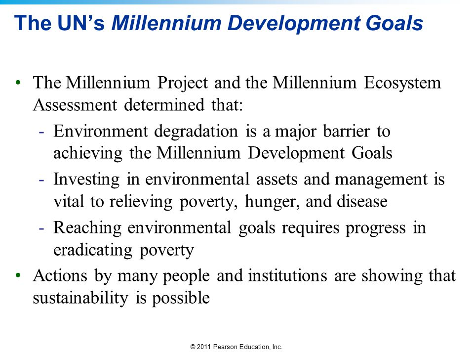 The UN's Millennium Development Goals