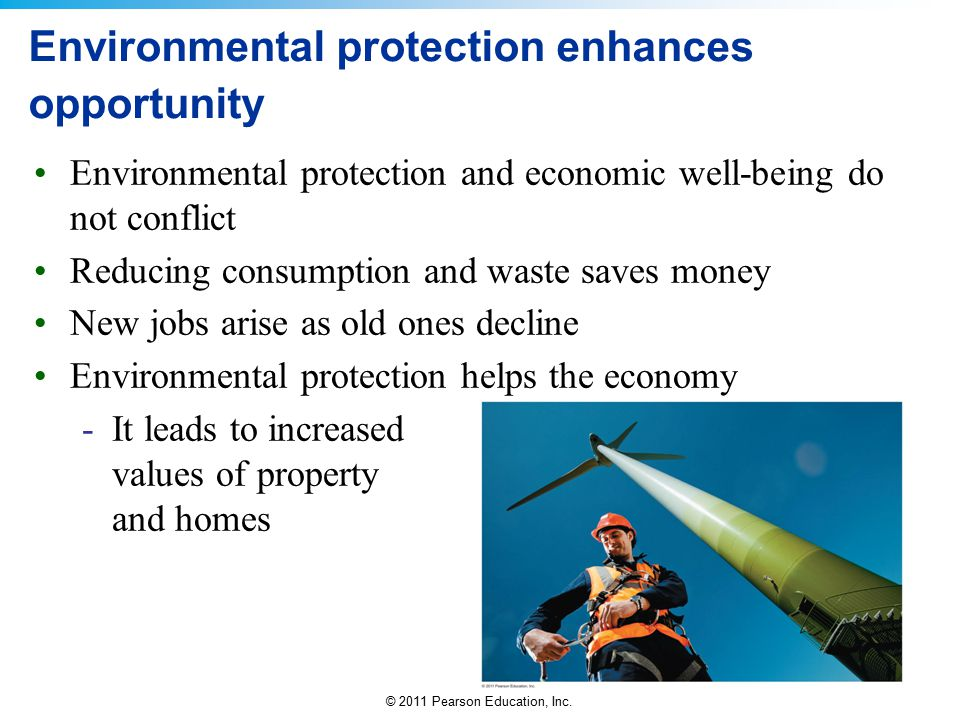 Environmental protection enhances opportunity