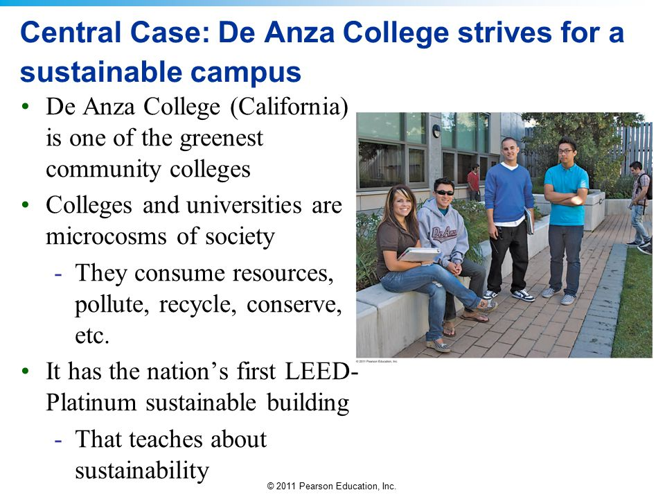 Central Case: De Anza College strives for a sustainable campus
