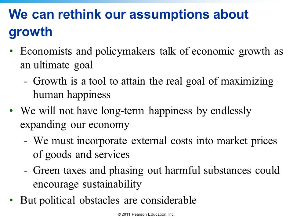 We can rethink our assumptions about growth