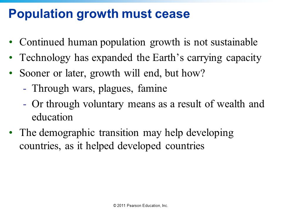 Population growth must cease