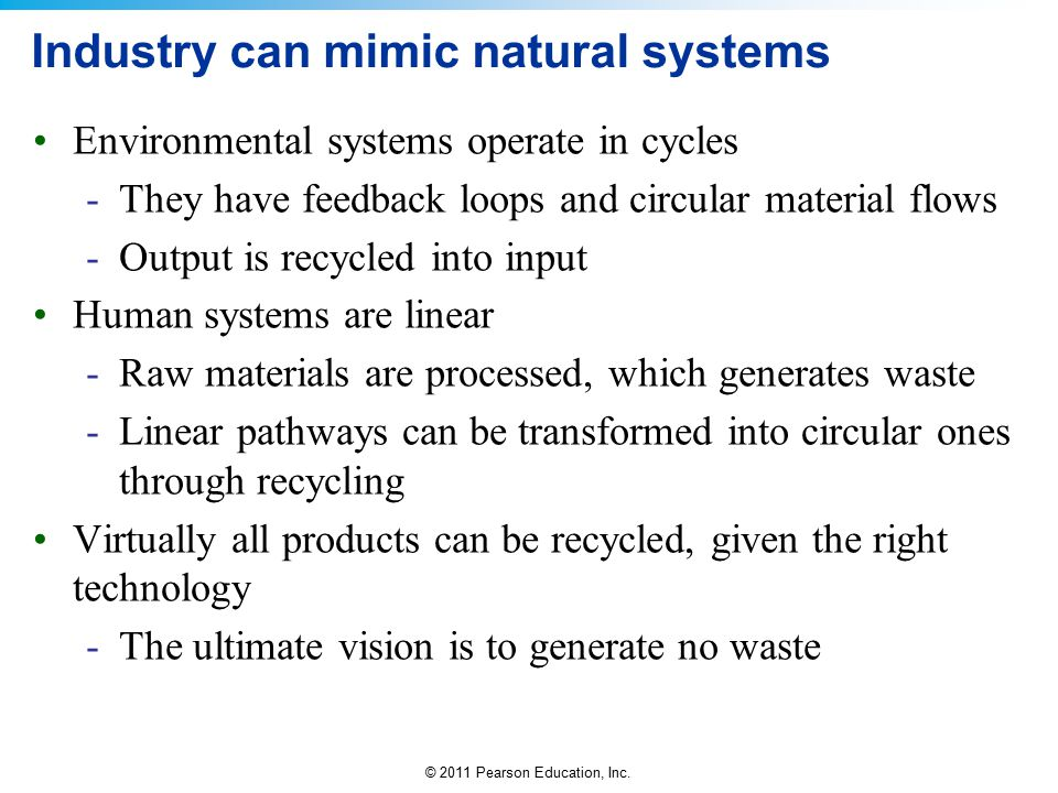 Industry can mimic natural systems