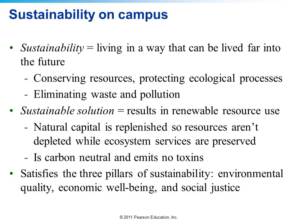 Sustainability on campus