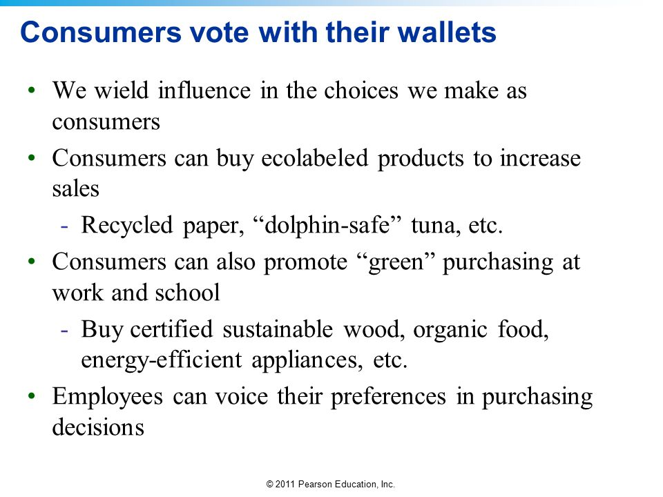 Consumers vote with their wallets