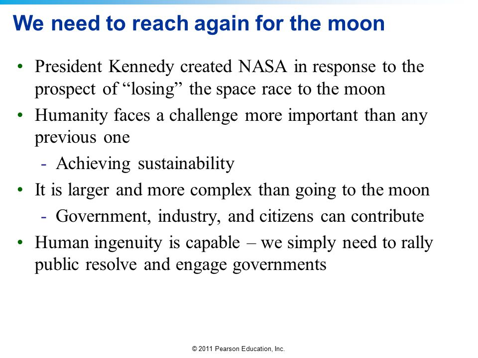 We need to reach again for the moon