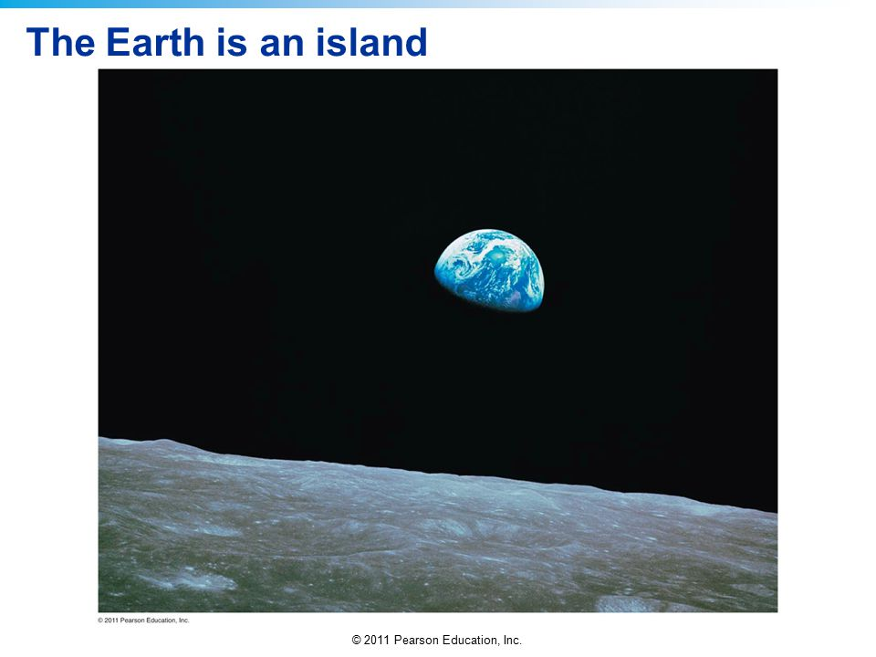 The Earth is an island
