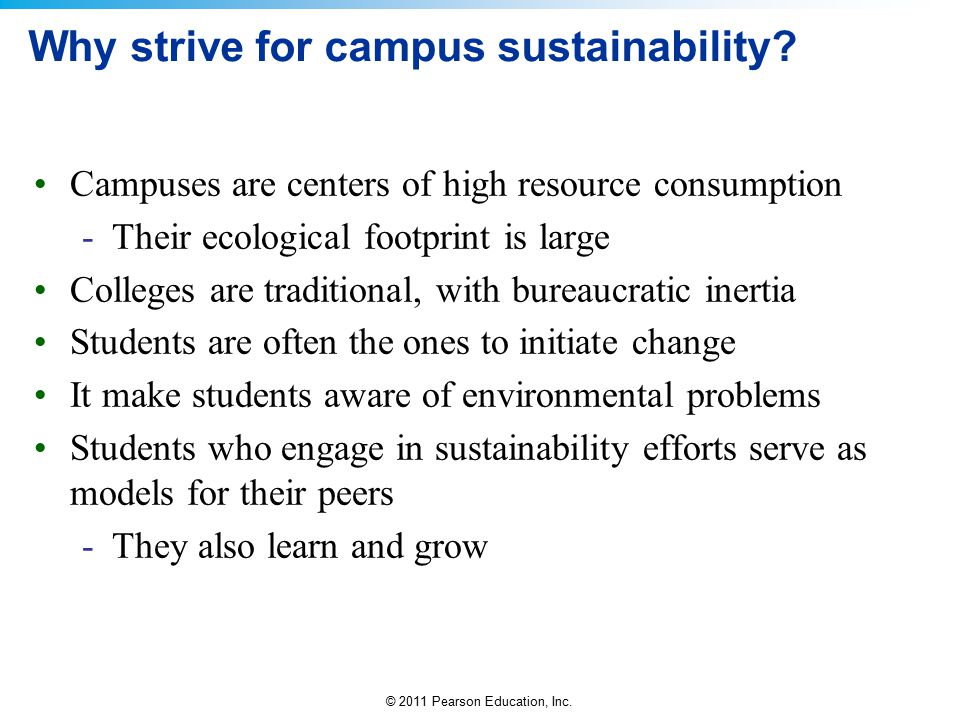 Why strive for campus sustainability