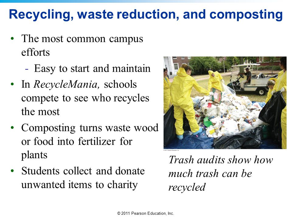 Recycling, waste reduction, and composting