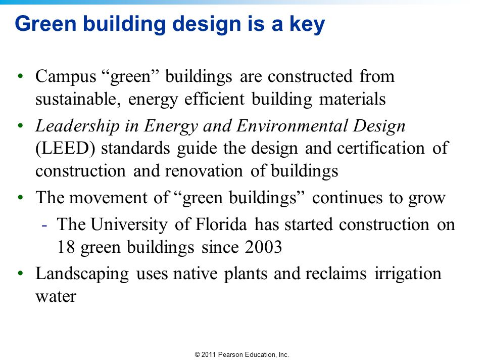 Green building design is a key