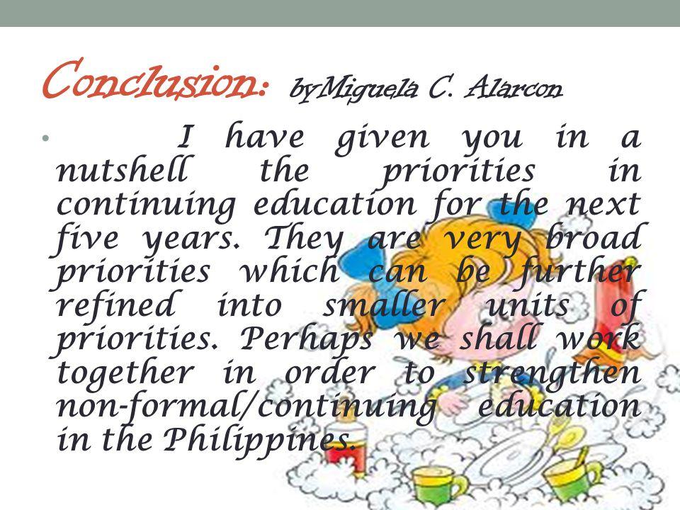 Conclusion: byMiguela C. Alarcon