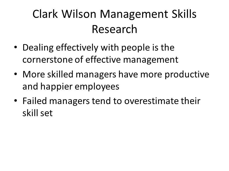 Clark Wilson Management Skills Research
