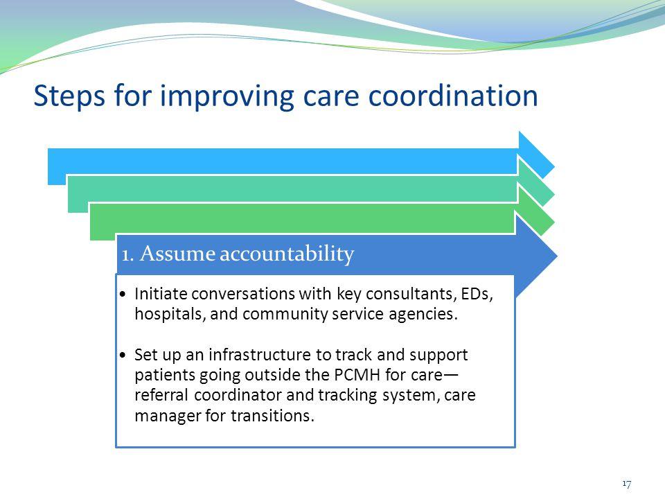 Steps for improving care coordination