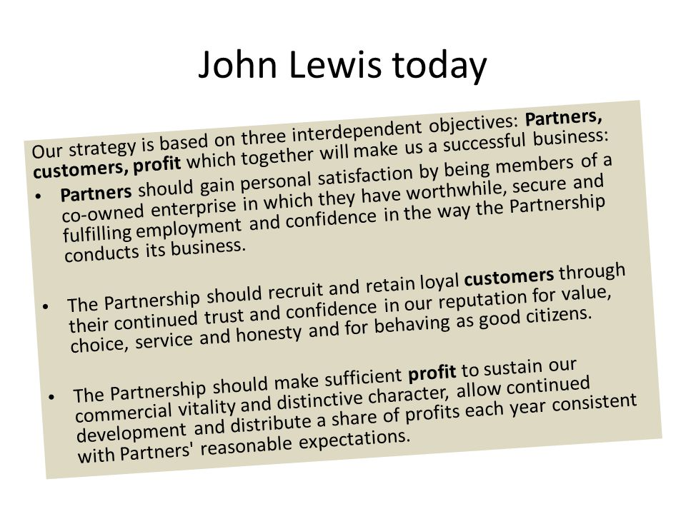 John Lewis today