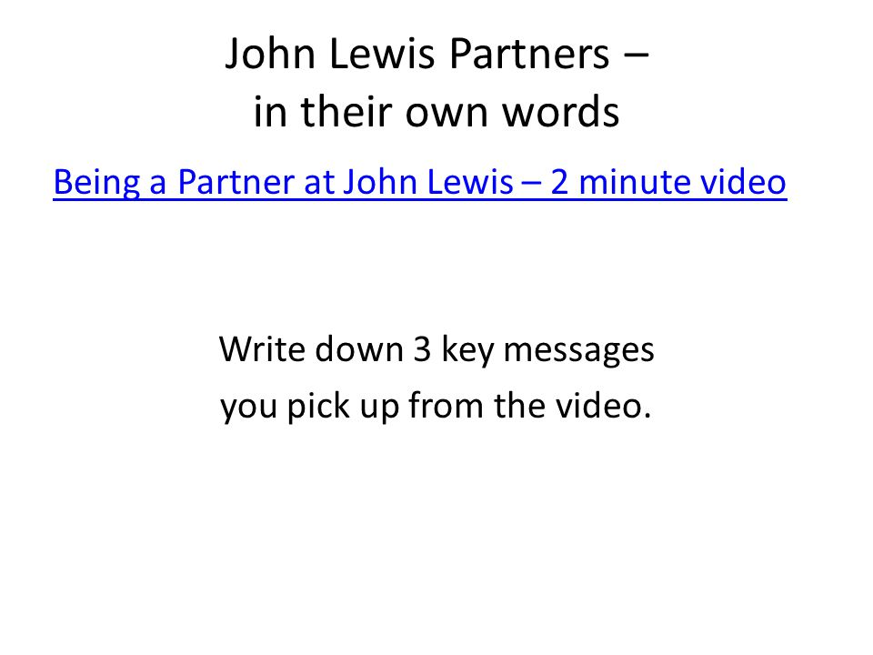 John Lewis Partners – in their own words