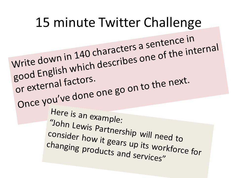 15 minute Twitter Challenge